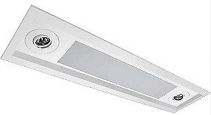 Luminária Embutir Recuado Mix Retangular 2 Tubular T8 + 2 AR70 92x16,5cm Metal e Acrílico Impacto MD7020-R