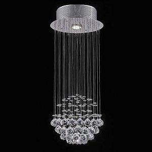 Plafon Aço Cromado Cristal Translúcido Itamonte PL-006/1.25CL