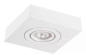 Mix Face Plana de Sobrepor em Alumínio 17x17cm Branco Brilhante/Fosco/Texturizado Impacto M301-S