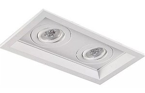 Mix Face Chanfrada de Embutir em Alumínio Injetado AR70 2XE27 27x15,5cm Impacto 1041/2