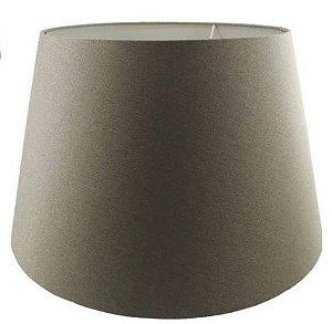 Cúpula de Abajur Linen Tecido 35cm Cor Areia Bella Iluminação AL001S