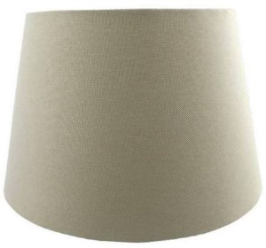 Cúpula de Abajur Linen Tecido 50cm Cor Bege Bella Iluminação AL002B