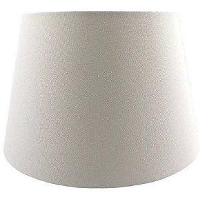Cúpula de Abajur Linen Tecido 50cm Off White Bella AL002W