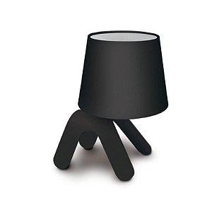 Luminária Abajur De Mesa Pet Light Formato Cachorro Preto 1E27 16X23CM Hugy CA016/02X
