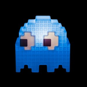 Luminária de Mesa Fantasminha Pixel Pacman Azul Usare FANT/AZ