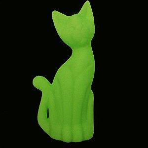 Luminária de Mesa Gato Magrelo Cor Verde Usare US30