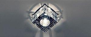 Semiembutido Quadrado Cristal Transparente Stella SD4020