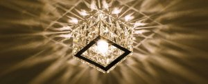 Semiembutido Freya Quadrado Metal e Cristal Transparente Stella SD4030Q