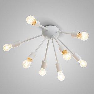 Plafon Sputinik Alumínio ø55x32cm 8xE27 LED Bulbo A60 ou LED Filamento Itamonte Nac 4279/8