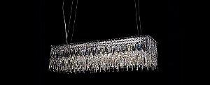 Pendente Retangular Cristal 68cm Transparente Stella SD9010