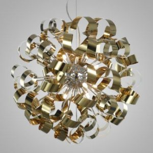 Pendente Aço Dourado + Luz PE-033/12.60DOU