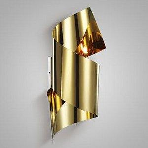 Arandela Steel Aço Dourado + Luz AR-087/2.15DOU