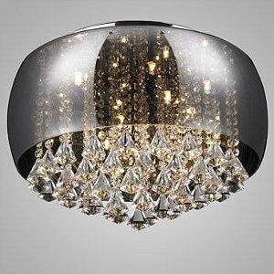 Plafon/Pendente em Vidro Fumê Vidro Fumê - Cristal Translúcido Itamonte PL-014/9.50SM