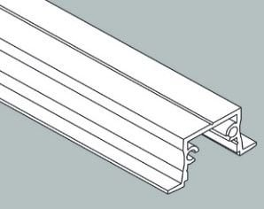 Perfil de Led Embutir Linear Garbo 34x2250x17mm Usina 30030225