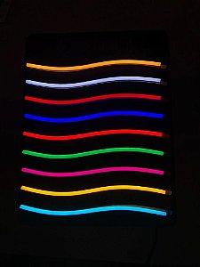 Fita Neon Flex Ligth 12v Corte 2.5cm 7,4w/m 120Lmm IP68 1m 12X6mm Alpertone SKY68-NFEX-2835-120L0612