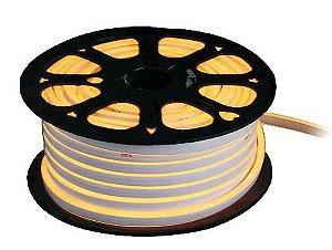 Fita Led Neon Flex Ligth 12v 7,4w/m 500Lm IP68 1MT 12X6mm Cor Branco Quente Alpertone 1481BQ