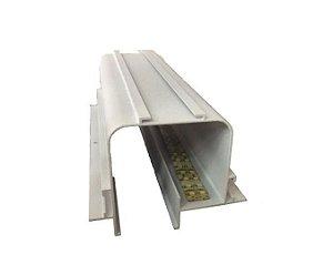 Perfil Embutir Linear No Frame Linha Tecno 93x1250x70mm Usina 30000/125