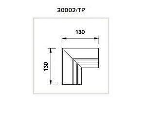 Junção Teto/Parede Sistema de Embutir Linear Linha Tecno 130x130mm Usina 30002/TP
