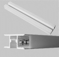 Perfil Sobrepor Linear Linha Double com Difusor  50x1250x23,5mm Usina 30650125