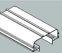 Perfil Embutir Linear Duplo Linha Infinity 123x2250x57mm Usina 30010/225