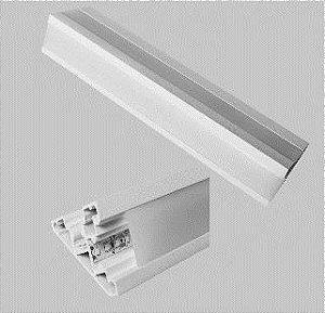 Perfil Embutir Linear Linha Sanca c/ Difusor 47,5x1000x67mm Usina 30040100