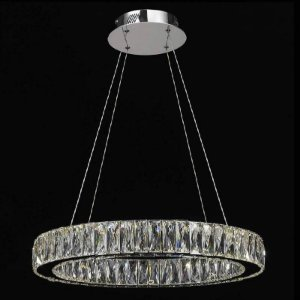 Lustre LED Aura Vidro 32W 3000K Quente 160xØ60 Bella WE001C
