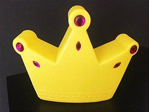 Abajur/Luminária de Mesa Coroa Cor Amarela Usare 1333