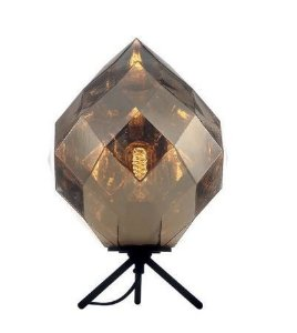 Abajur Vidro/Metal 25x37cm 1xe27 40w Dourado Quality AB1190-DO