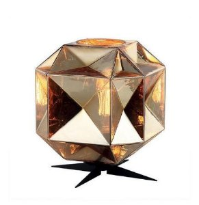 Abajur Vidro/Metal 25x37cm 1xe27 40w Dourado Quality AB1191-DO