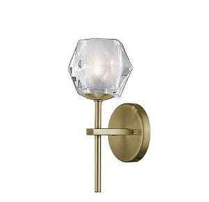 Arandela Vidro/Metal 1XG9 4OW 11X12X29cm Quality AR1174