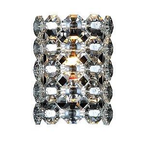 Arandela Copenhague Redondo Cristal K9 10xØ15 Cromado e Transparente Chandelie A70019-C