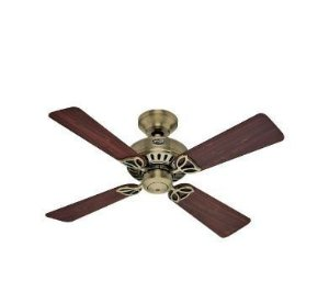 Ventilador de Teto Hunter Fan Bayport Metal Antigo 4 pás 110V Hunter Fan 50000