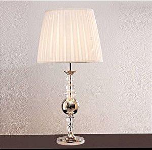 Base para Abajur Classic 1XE27 59cm Cor Cromado e Transparente Bella Iluminação XL1468