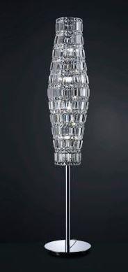 Coluna Pandora Metal Cromo Vidro Translucido 156x30cm 12 G9 Halopin Bella HO080F