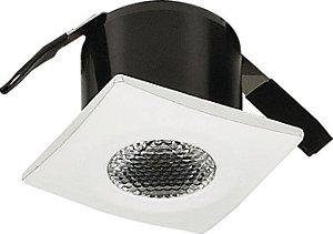 Mini Spot LED 2w Embutir Quadrado 35X35X26mm 3000K Bivolt 100LM Vidro Fosco Cristallux 33333