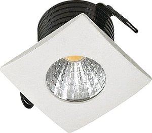 Mini Spot LED 2W Embutir Quadrado 35X35X26mm 3000K Bivolt 100LM Cristallux 33326