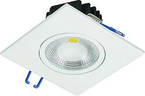 Spot LED Cob 10W Embutir Quadrado 110X110X63mm 3000K BIV 700LM Cristallux 42281