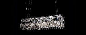 Pendente Retangular Cristal 110cm Transparente Stella SD9020