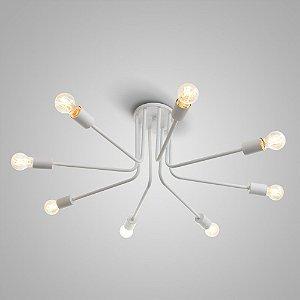 Plafon Asta Alumínio ø60x19cm 6xE27 LED Bulbo A60 ou LED Filamento Itamonte Nac 4278/6