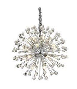 Lustre Luminária Wish Cromado para 21 Lâmpadas E14 Bivolt Hevvy SL-5839L/H21 CHROME