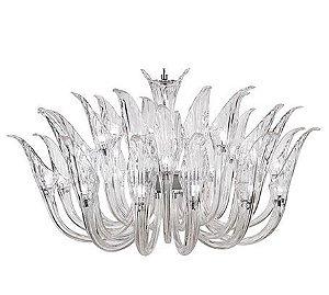 Lustre de vidro Iris com 32 lâmpadas translúcido D90 x A68 cm LC9111-32.000