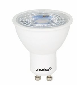 Lâmpada Dicróica MR16 Bivolt 4,8W 6500K 350LM GU10 Cristallux 201492