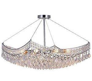 Pendente Florença Cristal para 8 Lâmpadas E14 D60 x A44cm Arquitetizze PD4910-8.000