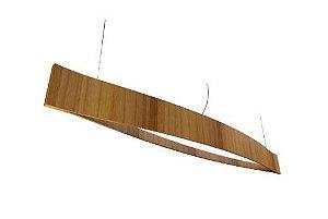 Pendente Canoa Cor Teca 190x20x16cm Bivolt Fita de LED 6W/M Accord 1230