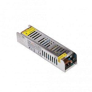 Fonte de Tensão Constante Slim 8,5A 100W 12VDC 186X33X46mm Misterled SLED5150