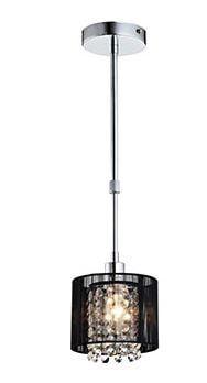 Pendente Cristal Sirius para 1 Lâmpada Cúpula Preta A70 X L15 Arquitetizze PD1101-1.000
