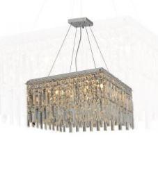 Pendente/Plafon Amsterdam 8 Lâmpadas Transparente Hevvy SL-5647/H8 TR