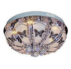 Plafon Capri 5 Lâmpadas de LED Tipo SMD Inclusas Controle Remoto A23,5 X L45 Arquitetizze PL7007-5.110