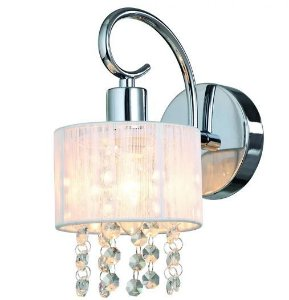 Arandela de Cristal Sirius para 1 Lâmpada Cúpula Branca A19 X L12 Arquitetizze AR4003-1.000