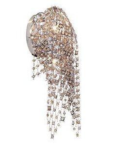 Arandela Glamour 2L G9 de Cristal Conhaque  2L. G9 MAX 40W BIVOLT Chandelie CH2094